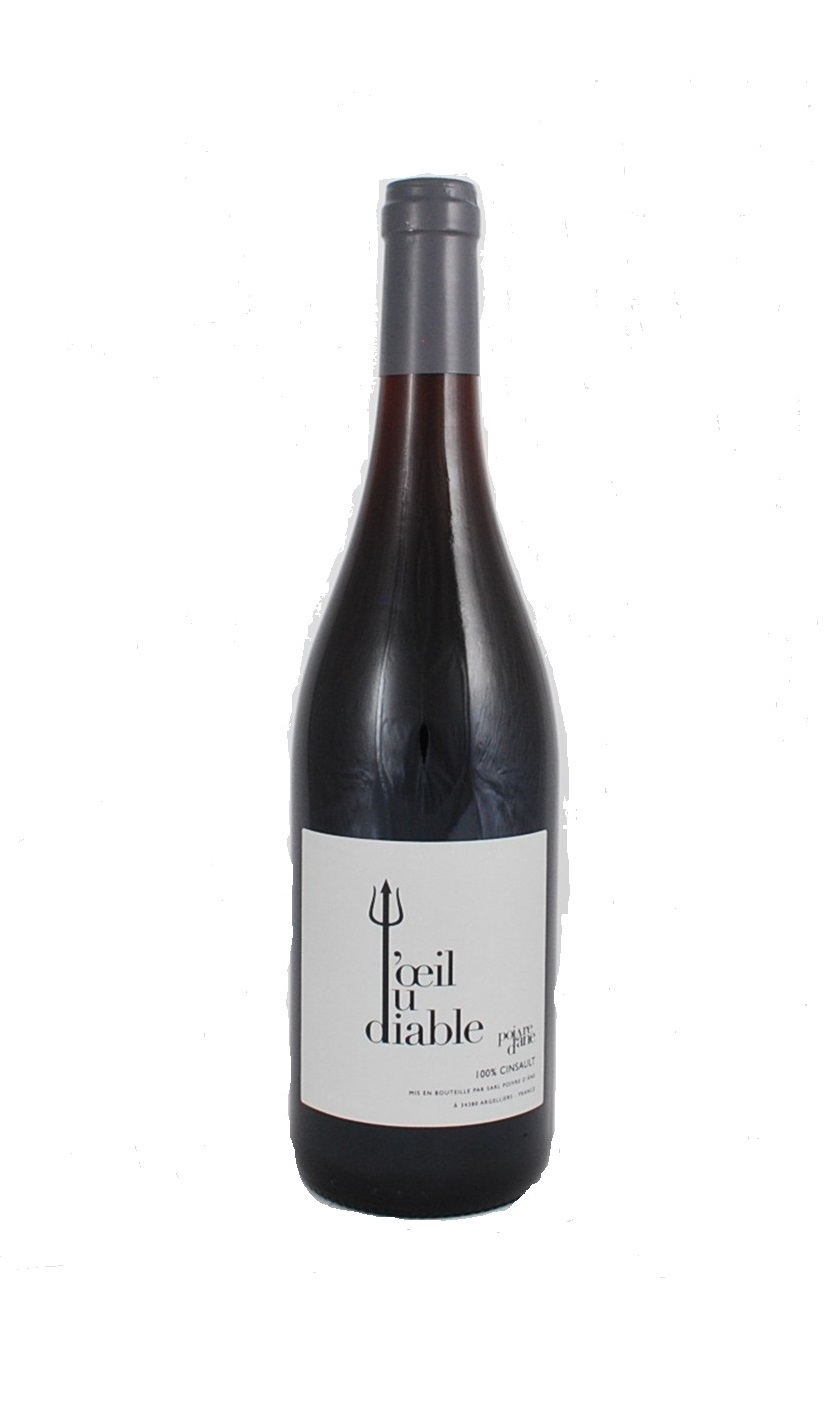 fles rode natuurwijn L'Oeil du Diable van Poivre d'Âne